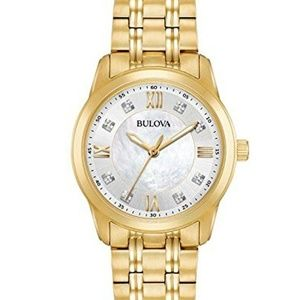 Bulova Women's Diamond Quartz Watch 97P118